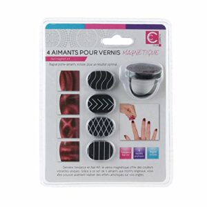 COSMETIC CLUB Aimant Ongles 4 Pièces