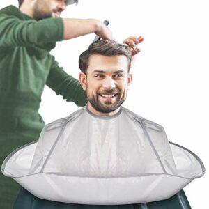 Coupe De Cheveux Coiffure Cape Barbe Rasage Tablier Parapluie Cape Avec Attache Auto-adhésive, Accessoires De Coupe De Cheveux Imperméables Pour Salon De Coiffure Familial