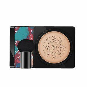 Crème CC Foundation Mushroom Air Cushion Bb Cream Cosmetique Fond de Teint Couverture hydratante Moisturizing Brighten Skin Tone Cover Blemishes Base de maquillage Nude Serria
