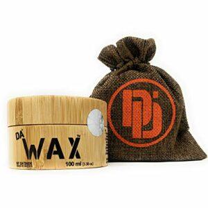 Da Dude Da Wax – Cire Coiffante pour Cheveux Homme avec Tenue Extra-Forte – Aspect Mat – Produit Coiffant dans un Coffret en Bois Exclusif et un Emballage Cadeau