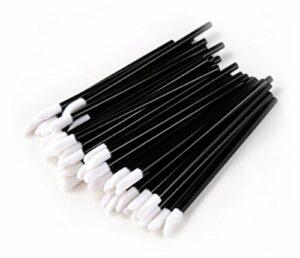 Dermastil 200 pcs jetables en microfibre non pelucheuses pour le nettoyage des cils et le maquillage – Pinceaux à lèvres
