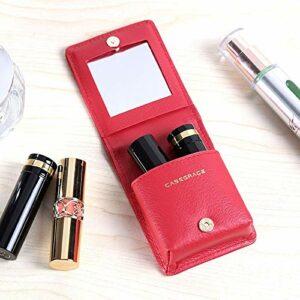 DFGH Mini boîte de Rangement boîte Rouge à lèvres Rouge à lèvres de Transport Portable Finition Rouge Bouche de Stockage cosmétique (Size : Red)