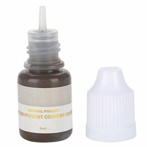 DGTRHTED Microblading Pigment – Pigment de Maquillage Semi-Permanent Lèvres Sourcils Eyeline Tattoo Pigment Couleur Noir et café (Sourcils)