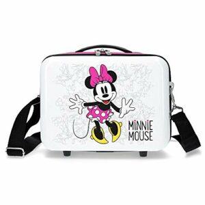 Disney Enjoy the Day Trousse de Toilette Adaptable à Trolley Minnie, 29 cm, Blanc