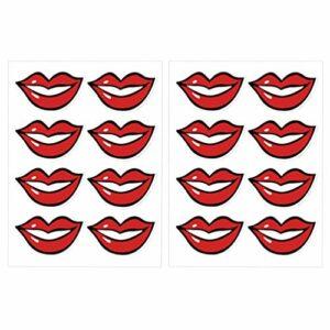 EXCEART 80 Pcs Couverture de Visage Sourire Décalcomanies Bouche Lèvres Autocollants Service Industrie Sourire Décalcomanies pour Couverture de La Bouche Bandana Chapeaux