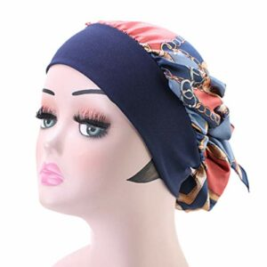 EXCEART Chemo Beanie Cap Cancer Chapeau Patients Cheveux Turban Wrap Sommeil Tête Couverture Perte de Cheveux Chapeau pour Les Patients Hospitalisés Usage Domestique 5 Pcs