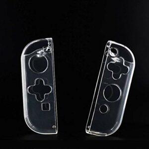 Exquis Crystal Clear TPU Souple Housse de Protection for la Peau Nin commutateur NS Controller Joy-Con Transparent Shell