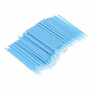 Extension de Cils Microbrush-200 pièces Microblading Extension de Cils Micro Brosse applicateur de Brosse Dentaire jetable