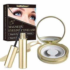 Faux Cils Magnétique,Magnetique Eyeliner,Cils Eyeliner Magnétiques,3D Magnetic Eyeliner Kit de Cils Magnétiques,Eye liner magnétique imperméable