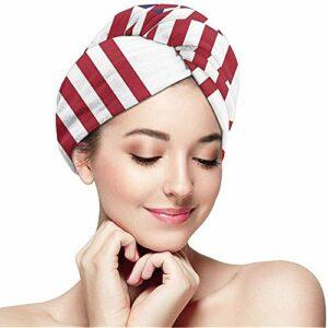 Femmes Fille USA Mexique Drapeau Serviette De Cheveux Wraps Ultra Absorbant Séchage Rapide Baignade Capuchon Enveloppé Anti-Frizz Douche Cheveux Turban