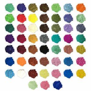 Fesjoy Pigment de Poudre de mica de qualité cosmétique pour Les Bombes de Bain de Savon Mineral Make Up Nail Art