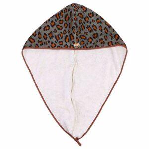 FRCOLOR Microfibre Cheveux Serviette Wrap Twist Turban Séchage Rapide Cheveux Casquettes Super Absorbant Tête de Douche Serviette de Bain Enveloppé Casquette pour Femmes Filles Vert