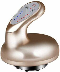 FXNB Électrique Grattage Massage, Aspiration sous Vide Detox Gua Sha Emboutissage Massage Machine, Accélérez La Circulation Sanguine Soins De Santé, Minceur Pression Négative,d'or,Gold