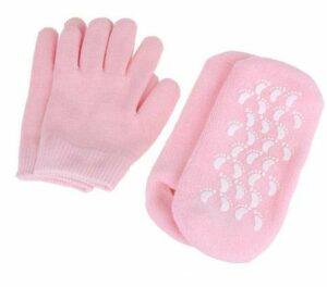 gants de soin de spa 1 ensemble de chaussettes et gants réutilisables en gel SPA Hydratant blanchissant exfoliant velours lisse beauté main soin des pieds chaussettes en silicone