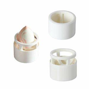 GBstore Support pour mixeur en éponge, support pour éponge de maquillage, support de séchage pour œufs et poudre, dispose de trois modes d'affichage différents (blanc laitier)