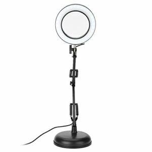 Gojiny Lampe loupe LED de bureau, 5 x loupe eyeliner manucure tatouage Beauty Light pour studio d'ongles