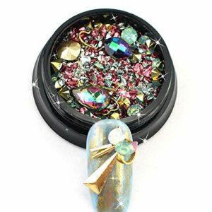 GUANGUA 1 boîte de Couleur Mixte Strass Ongles décoration 3D Cristal Verre Ornements gemme manucure Conseils