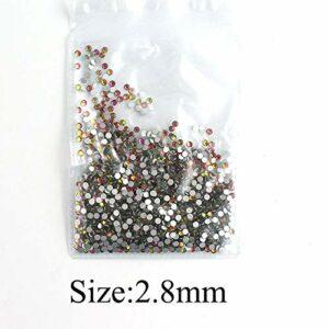 GUANGUA Décoration d'ongles en Cristal, Strass en Cristal au Dos, gemmes de Charme 3D, manucure, décoration d'ongles