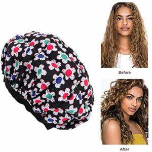 Hamkaw Bonnet thermique sans fil pour traitement des cheveux et du cuir chevelu avec 10 capuchons de douche jetables, utilisés avec de l'huile ou du conditionneur