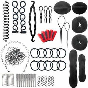 Harrspange Lot de 28 accessoires pour cheveux, accessoires pour cheveux, pinces, mousse, marque-places, marque-places, cravate, marque-page, pour bague, etc.