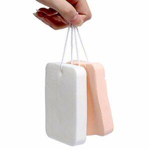 HRXS 2 pièces éponge colorée nettoyant pour Le Visage, Outil de Maquillage pour Le Visage éponge nettoyante pour Le Visage