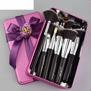 hsy Pinceaux de Maquillage Ensembles de pinceaux de Maquillage de qualité supérieure pour Poudre,Cadeau de Maquillage pour Le Visage en Poudre Fond de Teint Poudre Anti-cernes Poils naturels