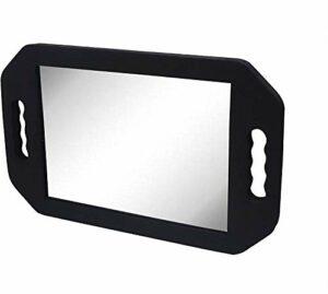 IBEAUTY Miroir de coiffeur – (40,5 x 25 cm) noir mousse miroir de barbier, léger double poignée miroir de salon de beauté et salon de beauté