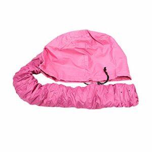 Jfsmgs Bonnets de Douche Sèche-Cheveux Huile Cap Salon De Coiffure Chapeau Bonnet Perm Casque Steamer Cheveux Baking Huile Traitement Crème Hat Professional Safe (Color : Red)