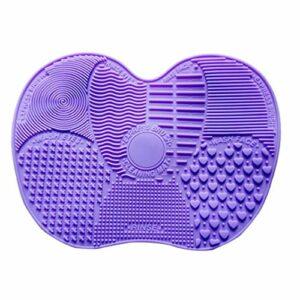 Jialai Make Up Brush Pad Brosse de nettoyage Tapis silicone Scrub Pad Grand Pad Scrub Pad Ventouse laver Pad Beauté et soins de santé
