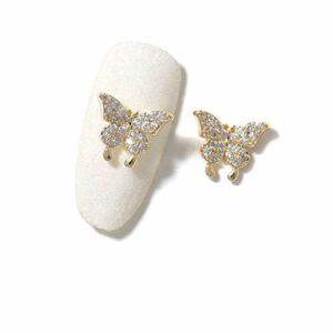 JIANDONG 2 Pièces Nail Bijoux Zircon Strass Décoration Alliage Ongles Décoration (Color : 159 25)