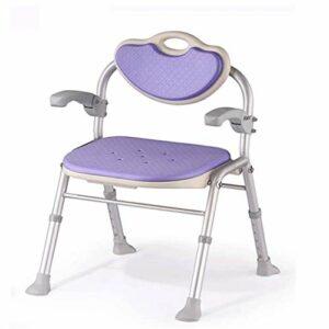 JJZXD Chaise de Douche Tabouret de Douche Douche Banc avec Dossier réglable et Ajustable en Hauteur Accoudoirs Aide au Bain for Personnes âgées (Color : B)