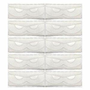 KellyRoom Lot de 10 étuis à cils en plastique avec plateau transparent