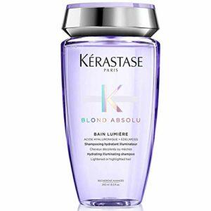 Kerastase Blond Absolu Bain Lumière – Shampooing hydratant illuminateur pour cheveux blonds décolorés ou méchés 250 ml