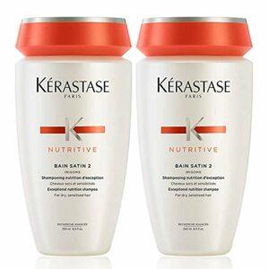 Kerastase Nutritive-Bain Satin2-Shampoing pour cheveux secs/sensibilisés, 250 ml (lot de 2)