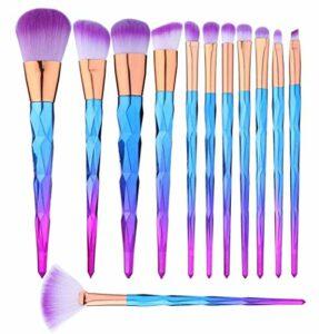 Kit Pinceau Maquillage Professionnelle 12 pièces Maquillage Pinceaux Pour Les Fonds de Teint, Pinceaux à Fard à Joues, à Poudre, à Crèmes Cosmétiques et Correcteur Pour œil Set Pinceaux Maquillage