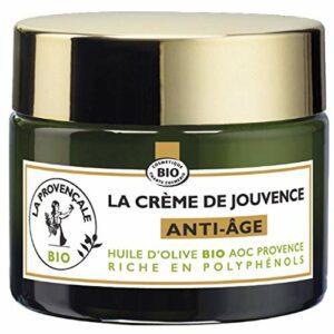 La Provençale – La Crème de Jouvence Anti-Âge – Soin Visage Certifié Bio – Huile d'Olive Bio AOC Provence – Pour Tous Types de Peaux, Même Sensibles – 50 ml