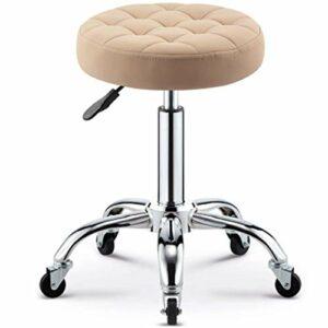 LIZHIQIANGdiaodeng Chaise relevable pivotant sur 360 ° Barber maquillage Tabouret de coiffure Tabouret manucure Tabouret Tabouret rond antidéflagrants Poulie (Color : B, Size : 32 * 55cm)