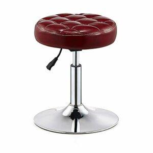 LIZHIQIANGdiaodeng Rotary Salon de massage Tabouret Chaise hauteur réglable travail Tabouret for massage Spa Salon de coiffure Beauté Manucure Tatouage traitement Bureau Siège Base de Chrome (sans dos