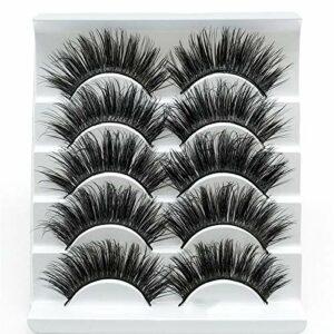 LKR Si Belle Cils, 5 Paires Cruauté Naturel Faux Mink Faux Cils Extensions, Cils Kiss 3D for Handamde Outils de Maquillage Beauté Cils Extension Vous Apporter la beauté (Color : 1)