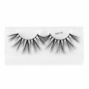 LKR Si Belle Cils, Mink Cheveux naturels Faux Cils, Extensions Cils Kiss 3D épais Doux Handamde for Les Femmes Maquillage cosmétique Vous Apporter la beauté (Color : 30mm MN18)