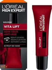 L'Oréal Men Expert – Soin Yeux Anti-Âge pour Homme – Pour les Peaux Matures – Vita Lift – 15 ml