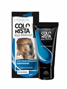 L'Oréal Paris – Colorista Hair Makeup – Maquillage pour Cheveux – Coloration éphémère pour Blondes Cobalt 30 ml – Lot de 2