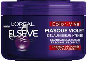 L'Oréal Paris – Elseve Color-Vive – Masque Violet Déjaunisseur Intense pour Cheveux Décolorés/Eclaircis 250ml