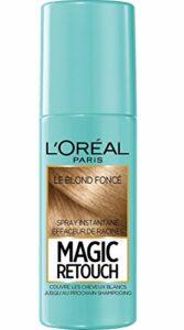 L'Oréal Paris Spray Instantané Correcteur de Racines & Cheveux Blancs, Magic Retouch, Blond Foncé, 75 ml