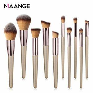 MAANGE 10 Pieces Pinceaux Peinture Professionnels Maquillage Set de Brosse Maquillage Kit de Toilette Set