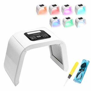 Machine de soin de la peau de LED, 7 couleurs légères beauté masque de rajeunissement appareil de traitement de l'acné traitement anti-rides soin du visage outils approuvé par la FDA(EU plug)
