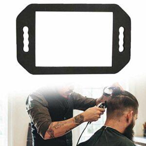 Miroir de Coiffeur Manuel, Noir Mousse Miroir, Miroir portable miroir de main avec Deux Manipuler pour la coiffure et la beauté Outil Professionnel pour Rasage Coiffure Maquillage