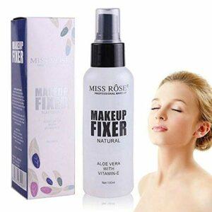 MISS ROSE Makeup Water Spray Primer Fond de teint liquide Liquide hydratant Flacon de gommage de 100 ml Spray de réglage de maquillage transparent Convient pour le spray de réglage (100ml)