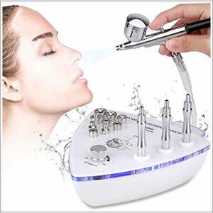 MOKY Diamant Microdermabrasion Dermabrasion Machine avec Pistolet pulvérisation d'eau Vide d'aspiration Gommage Massage Facial Forte Puissance d'aspiration: 0-68cmHg