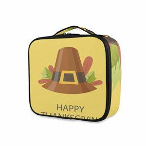 MontoJ Trousse de toilette pour femme avec chapeau de Thanksgiving